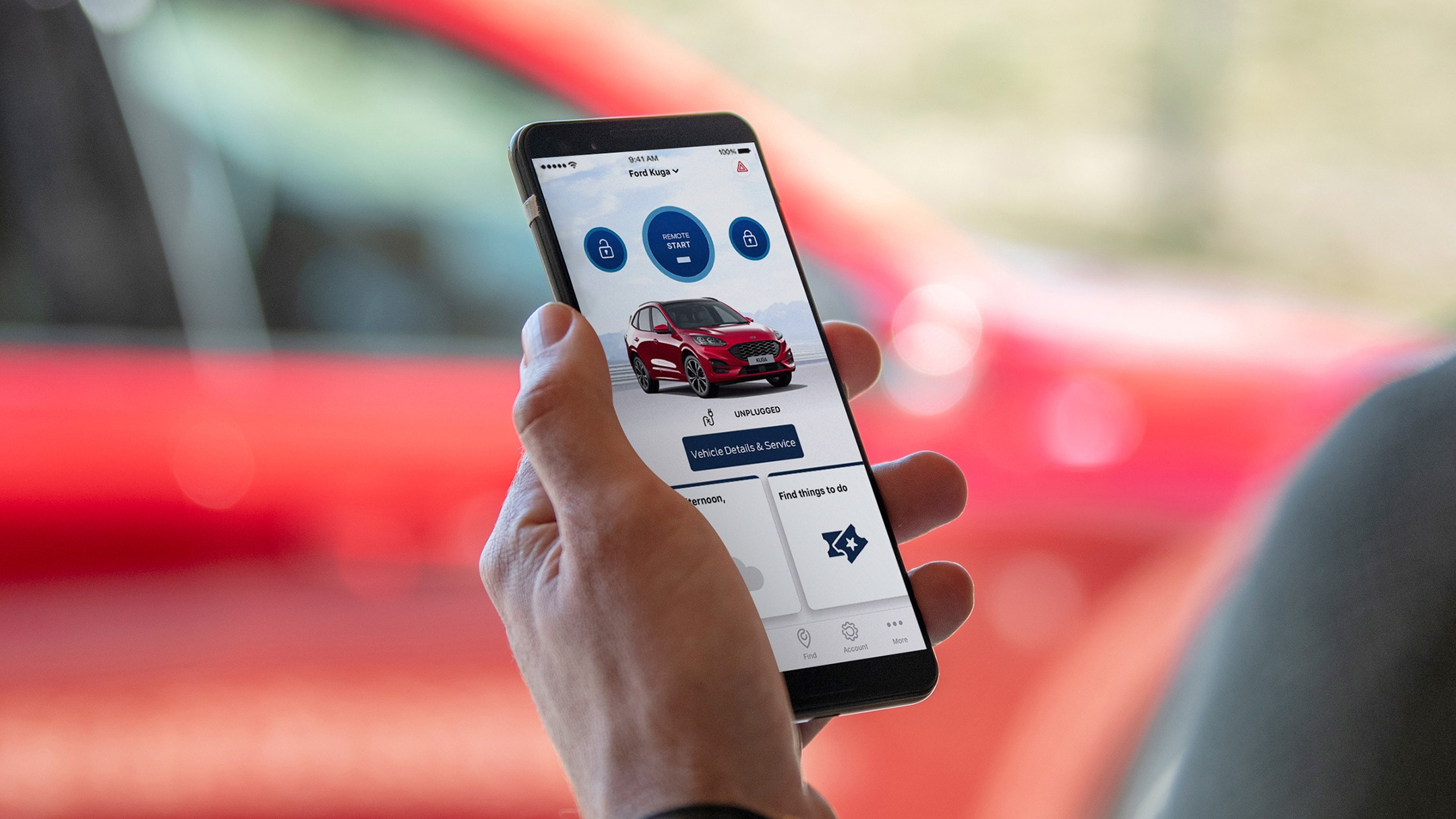 FordPass App being shown on phone